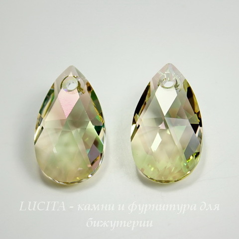 6106 Подвеска Сваровски Капля Crystal Luminous Green (22 мм)