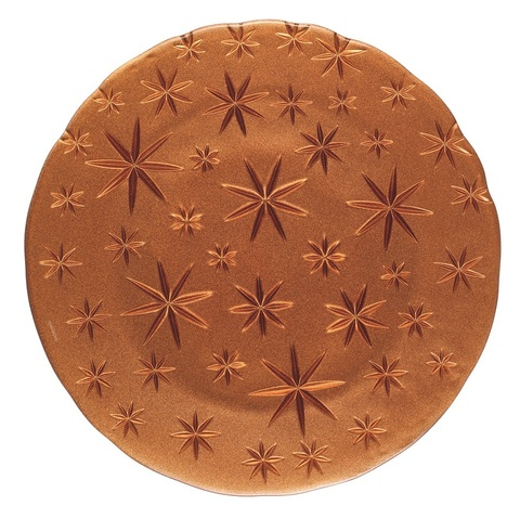 Stars Charger Plate Copper Ruby