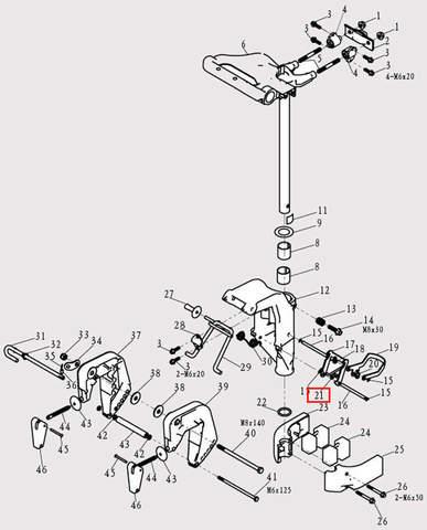 Замок для лодочного мотора F9.8 Sea-PRO (13-21)