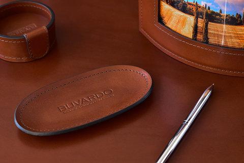 Лоток для мелочей BUVARDO LUX из кожи Full Grain Toscana Tan