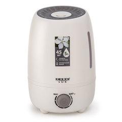 Увлажнитель воздуха ультразвуковой 25 Вт, 5 л, с керамическим фильтром DELTA LUX DE-3700 белый с серым