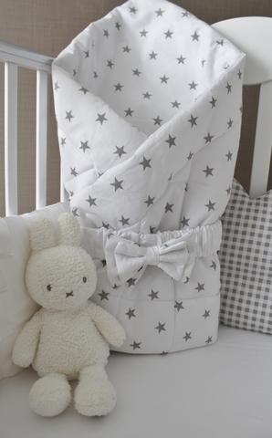 Летнее одеяло - конверт на выписку Звезды