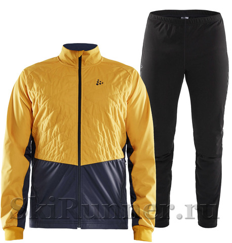 Лыжный костюм Craft Storm Balance yellow grey мужской 2020