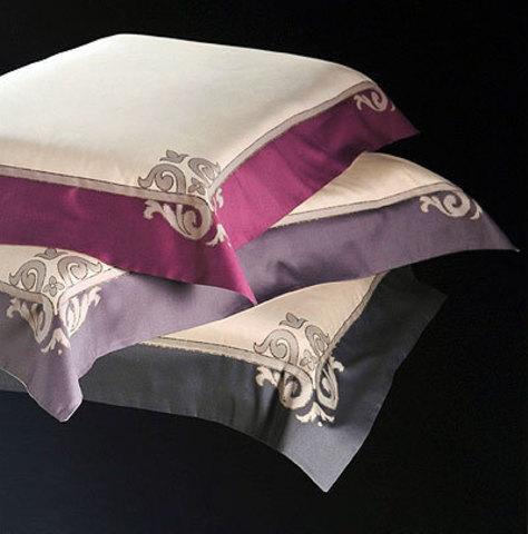 Постельное белье 2 спальное евро Cassera Casa Caldes лиловое