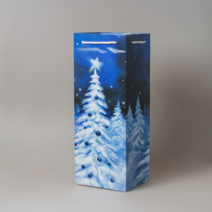 Пакет бум./ламинир. новогодний под бутылку 206