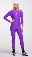 Раздельный лыжный гоночный комбинезон Nordski Active Violet женский