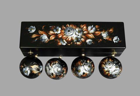 Набор из 4 елочных шаров в шкатулке SET04D-667785812