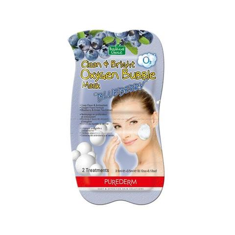 Маска для лица кислородная Purederm O2 Clean&Bright Oxygen Babble Mask