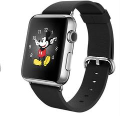 Часы Apple Watch 42мм (черный кожаный с классической пряжкой)