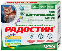 Радостин витамино-минеральная добавка для кастрированных котов