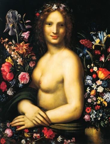 Ян Брейгель Старший. Флора (Flora) (совместно с Карло Антонио Прокаччини (фигура)). Ок. 1600. Бергамо, Академия Каррара.