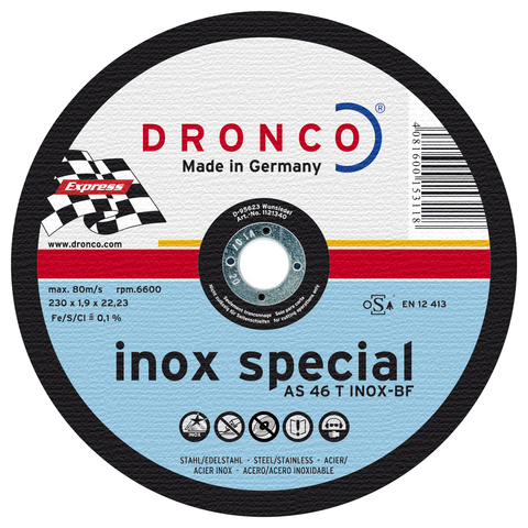 Абразивный отрезной диск Dronco AS 46 INOX  230х1,9