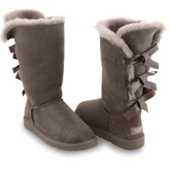 UGG Bailey Bow Tall Grey