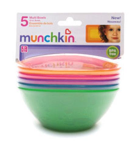 Набор детских цветных мисок 5шт. 6+