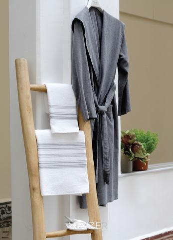 Полотенце 50x100 Hamam Meyzer с серым белое