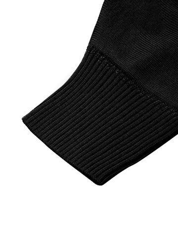 Черный джемпер свободного силуэта из шёлка с кашемиром - фото 5