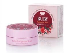 Гидрогелевые патчи для век с рубиновым порошком и экстрактом болгарской розы KOELF