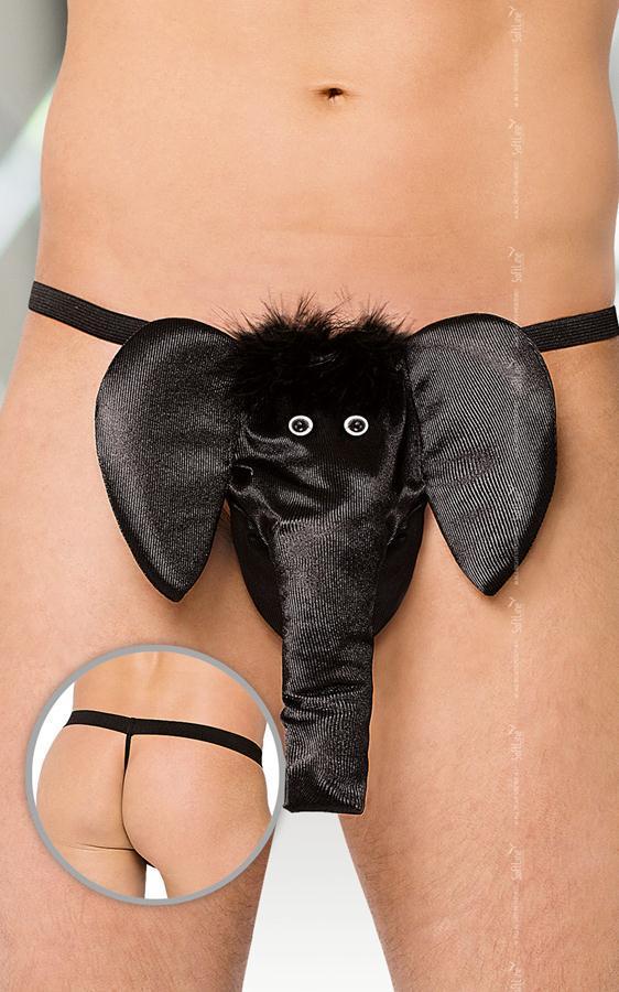 Мужское белье: Трусы-стринги со слоном