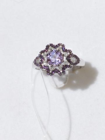 Звезда -аметист (кольцо из серебра)