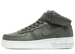 Кроссовки Женские Nike Air Force 1 Mid Leather Khaki