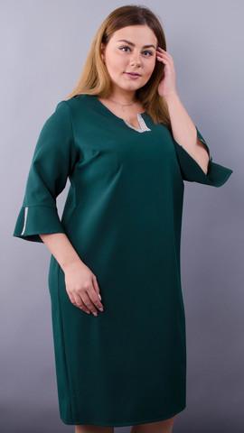 Сьюзен. Нарядное платье plus size. Изумруд.