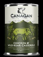 Влажный корм для собак, CANAGAN, с тушеной курицей и диким кабаном