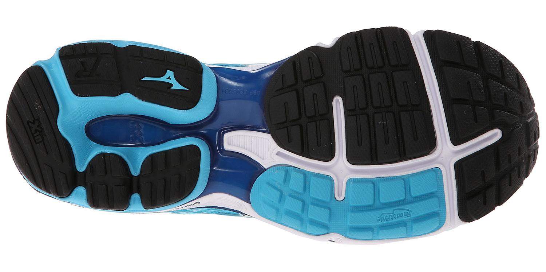 Женские беговые кроссовки Mizuno Wave Rider 18 (J1GD1503 04) бирюзовые подошва