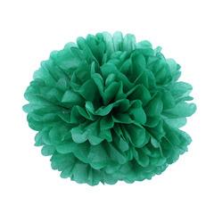 Помпон из бумаги 30 см зеленый