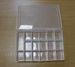 Пластиковый контейнер для мелочей прямоугольный 260х170х46 мм