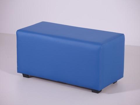 Пф-02 Пуфик прямоугольный (синий) для дома и магазина