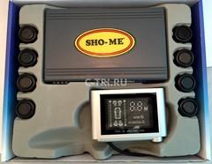 Парковочный радар Sho-Me Y-2612N-08 Black (флюор.дисплей), комп.