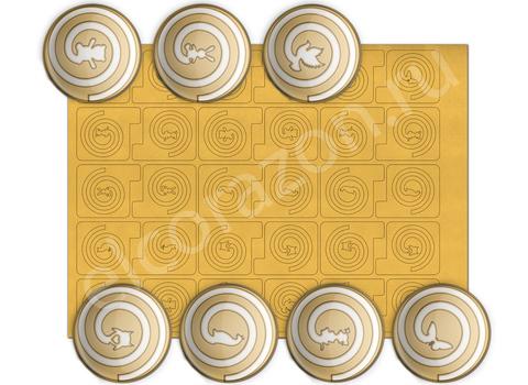 Эль Коразон Виниловые трафареты золотой K-NS 3
