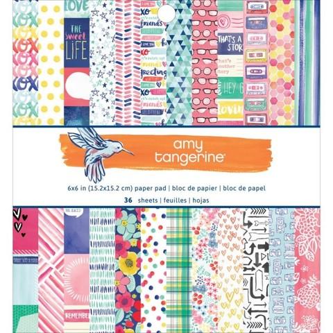 Набор бумаги 15х15 см Amy Tangerine Better Together