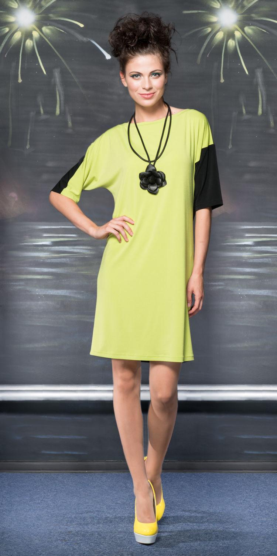 Платье З780-205 - Платье свободной формы с оригинальными рукавами - один рукам цельнокроеный двухцветный, другой втачной однотонный. К платью легко подобрать различные аксессуары, чтобы выглядеть каждый раз по разному.