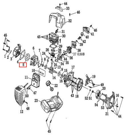 Основание стартера  для лодочного мотора T2 SEA-PRO