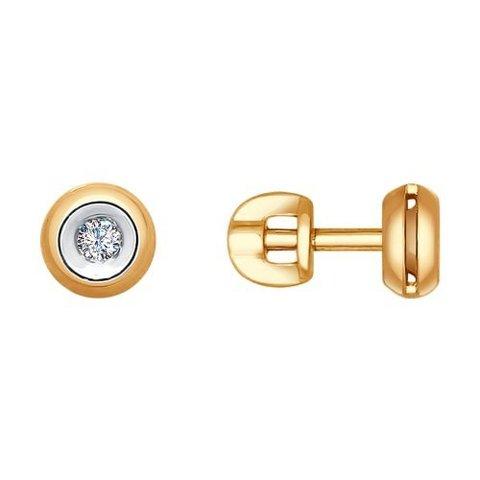 Серьги-пусеты из золота с бриллиантами от SOKOLOV арт.1021089