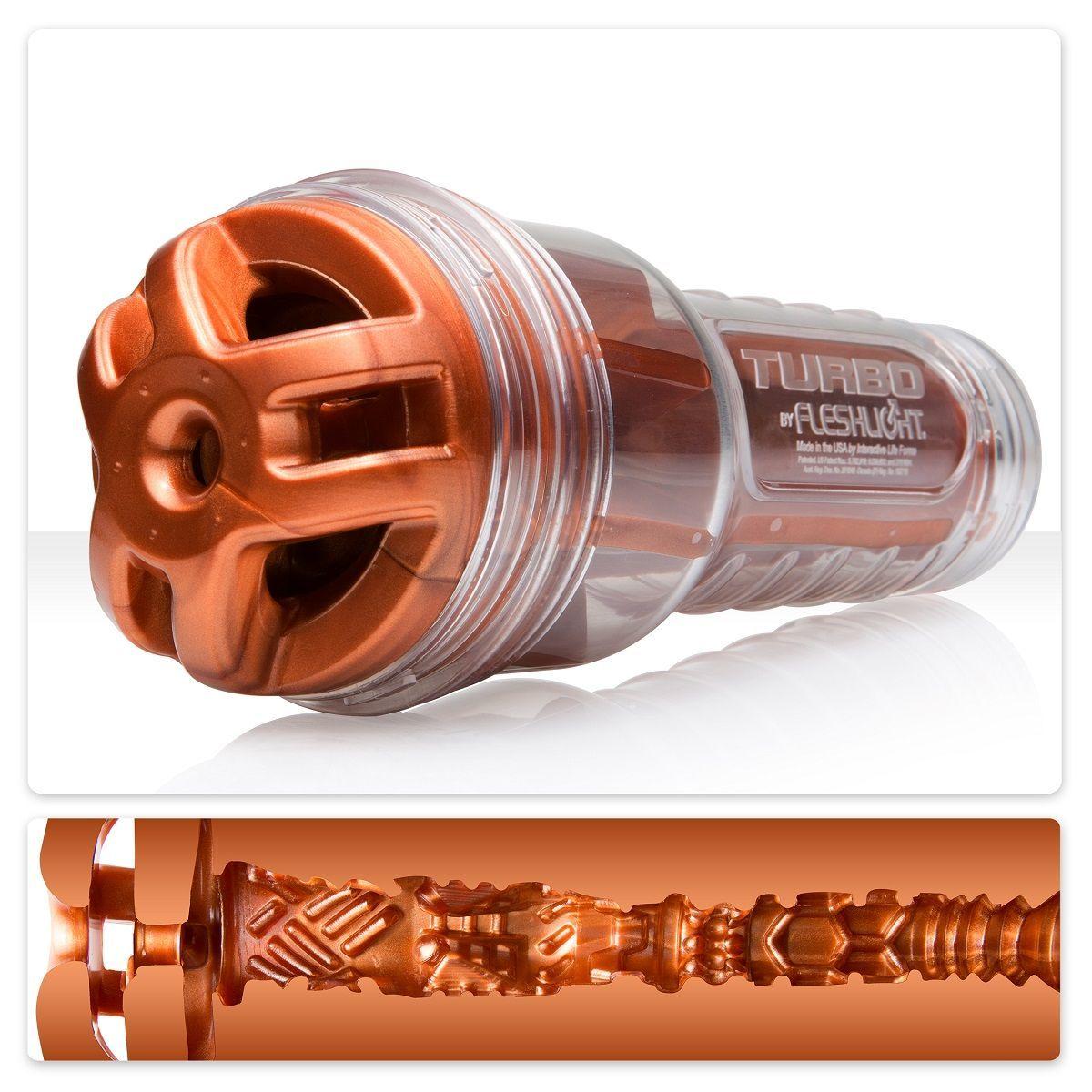 Мастурбаторы: Мастурбатор Fleshlight Turbo - Ignition Copper