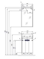 Зеркало с освещением Акватон Бэлла 46, белый/джара схема