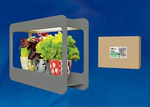 ULT-P30-15W/SPFS IP40 GREY Светильник для растений светодиодный с подставкой «Минисад». Спектр для фотосинтеза с высокой цветопередачей. TM Uniel.