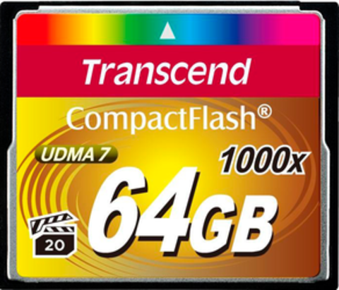 Compact Flash 64Gb Transcend 1000x