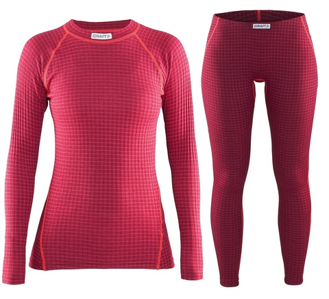 Женский комплект термобелья Craft Warm Wool Red (1903724-2482-1903725-2482)