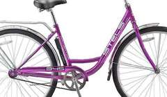 Велосипед STELS Navigator 345 Lady Z010 (2017) Фиолетовый/золотой