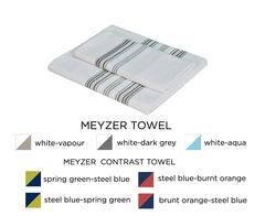 Полотенце 100х150 Hamam Meyzer с серым белое
