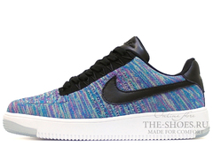 Кроссовки Женские Nike Air Force 1 Low Flyknite Blue Candy Black White