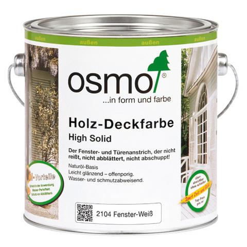 Белая краска для окон и дверей OSMO Holz-Deckfarbe