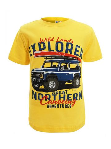 D002-36 футболка для мальчиков, желтая