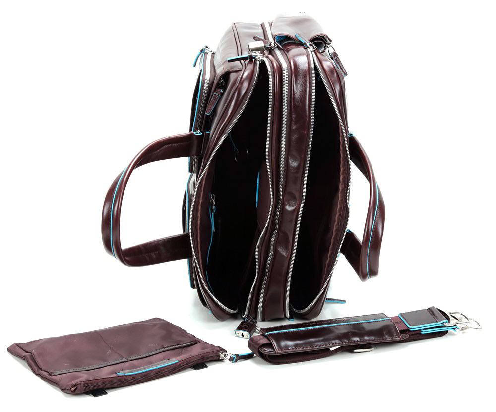 Сумка Piquadro Blue Square, цвет коричневый, 30,5x41x16 см (CA2765B2/MO)
