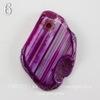 Подвеска Срез Агата с полосками (тониров), цвет - фиолетовый, 33-36 мм