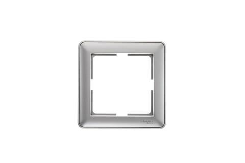 Рамка на 1 пост. Цвет Матовый хром. Schneider Electric Wessen 59. KD-1-58