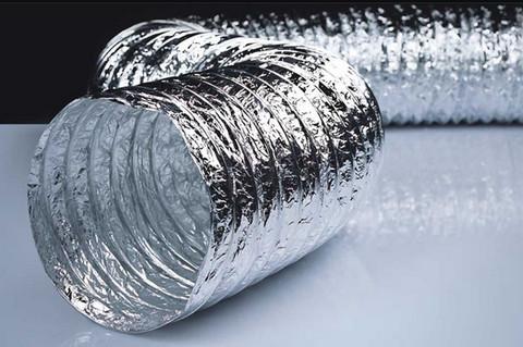 Воздуховод 160мм гибкий армированный, металлизированная пленка 70 мкм/10м